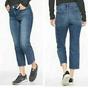 Athleta Sculptex slim straight crop jeans